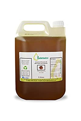 Lubrisolve Linseed Oil - 100% pure, cold pressed Linseed Oil - 5 litres