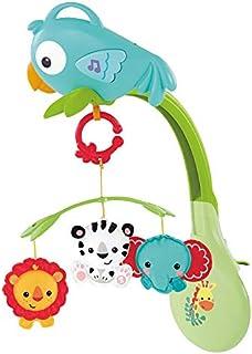 Fisher-Price 3 合 1 音乐音乐铃,新生儿移动音乐,灯光,声音,摇篮曲和白噪声,适合新生儿