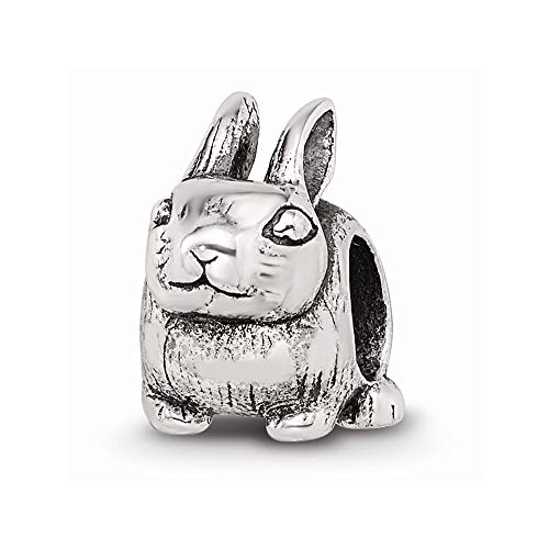 925 Sterling Silver Charm For Bracelet Bunny Bead Holiday Celebration Animal Fine Jewelry For Women Gifts For Her