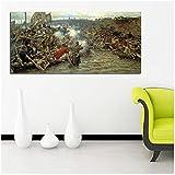 Mmpcpdd Yermak Timofeyevich - Cuadro de pintor ruso Vasily Surikov La conquista de Siberia para carteles de sala de estar, arte de pared para dormitorio, 60 x 120 cm, sin marco