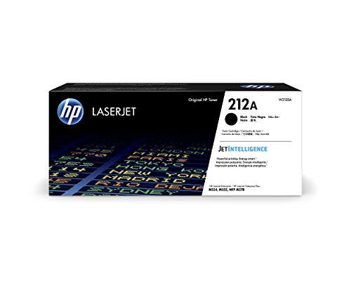 HP 212A W2120A, Negro, Cartucho Tóner Original, de 5.500 páginas, para impresoras HP Color Laserjet Enterprise Serie M554, M555 y M578