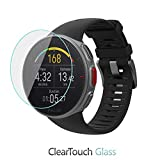 Polar Vantage V Screen Protector, BoxWave [ClearTouch Glass] 9H Tempered Glass Screen Protection for Polar Vantage V
