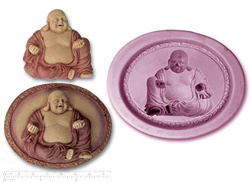 Moule en silicone pour décoration de gâteau en forme de Bouddha