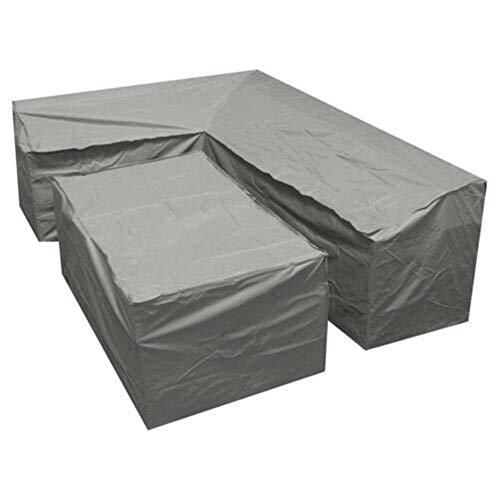 FUSSUF Muebles de Exterior Resistente al Agua Cubierta en Forma de L de la Esquina jardín Patio de ratán Sofá Sofá Cubiertas Protectoras de Polvo Conjunto Conjunto de Prueba 4 Tamaño