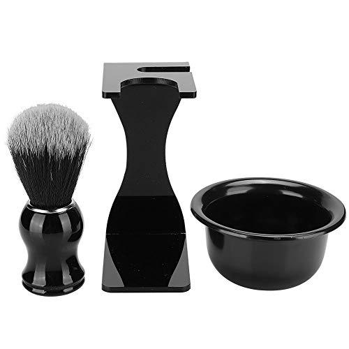 Barbe Rasage Brosse, Hommes Barbe Outil De Rasage Hommes Barbe Nettoyage Visage Cheveux Style Tool Set avec Bol Stand Cadeaux pour Anniversaires Vacances
