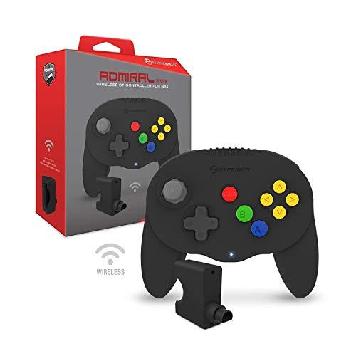 "Hyperkin ""Admiral"" Premium BT Controller for N64 (Black) - Nintendo 64"