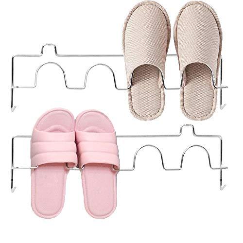 Eauta Schuhregal, zur Wandmontage, Schuh-Halter, hält alle Schuhe vom Boden fern, Edelstahl 2 Paar Schuhregale.