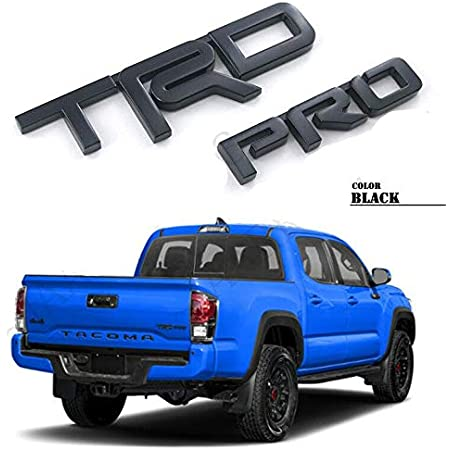 Weekeight 3D Black Fit for T.R.D P.R.O Letter Metal Emblem For Tundr@ AS 4Runner Taco ma 2015