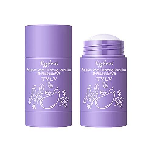 Mascarilla purificadora de té verde, control de aceite facial, poros de limpieza profunda, removedor de puntos negros del acné, mejora la piel para todo tipo de piel, paquete de 2