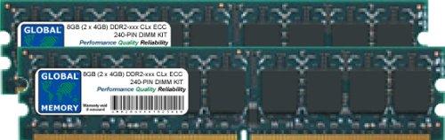 8GB (2 x 4GB) DDR2 667/800MHz 240-PIN ECC DIMM (UDIMM) Memoria RAM...