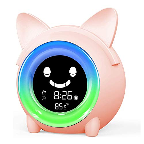 Kids Alarm Clock, Digital Alarm Clock for Kids Bedroom, Children's Sleep Trainier, Night Light, Nap Timer, Sound Machine, Wake up Light Alarm Clock for Boys Girls Christmas and Birthday Gifts