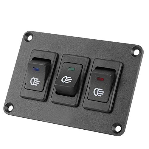 Qqmora Interruptor de Palanca LED de 12V / 30A Botón Superior para su vehículo para Accesorios de automóvil