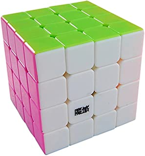 MoYu New Aosu Stickerless Structure 4x4 Speed Cube, High Bright Pink