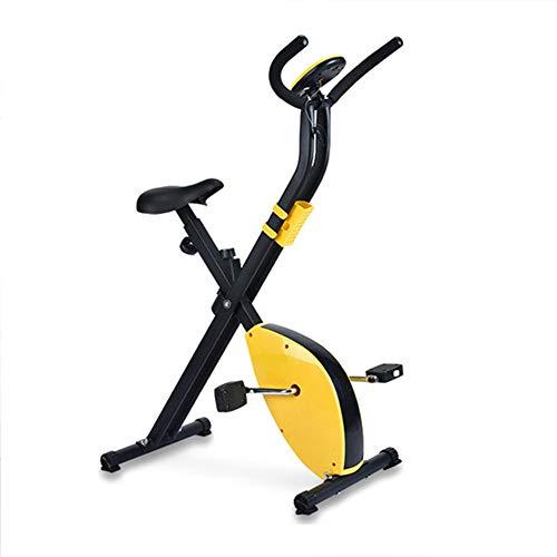 Dybory Fitness-Bike Und Trainer, Heimtrainer Cross-Fitness, Spinning-Fahrrad Gewichtsverlust Indoor-Fitnessgeräte, Idealer Heim-Cardio-Trainer, Schwarz Gelb