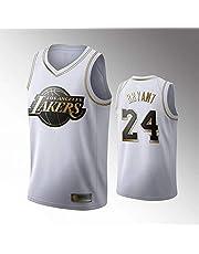 MGKMG Camiseta de Baloncesto para Hombre, NBA, Los Angeles Lakers #24 Kobe Bryant. Bordado Swingman Transpirable y Resistente al Desgaste Camiseta para Fan