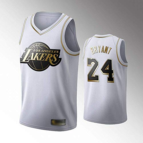 Camiseta De Baloncesto para Hombres # 24 Camiseta De Bryant Lakers Camiseta Sin Mangas Unisex De Malla Bordada Camiseta De Baloncesto Swingman Top Chalecos Sin Mangas Bordados,D,S