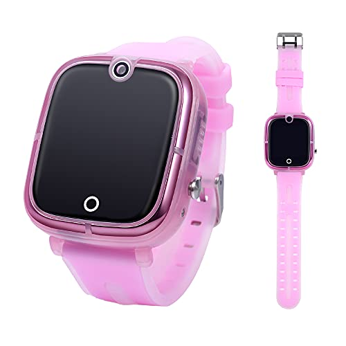 GUALARU Reloj Inteligente 2G para niños con Chat, Llamadas, localizacion GPS (Rosa)