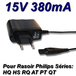 TopChargeur - Adaptador de alimentación, cargador de 15 V para afeitadora Philips PT860/41 PT870/14 PT870/15 PT870/16 PT870/17