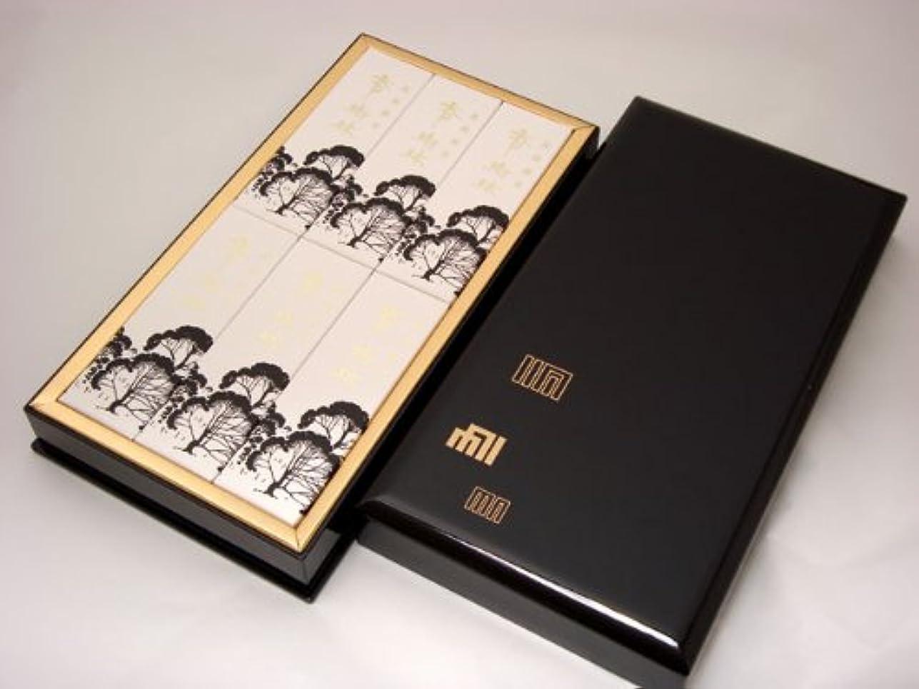 フラスコ司法流産進物用線香 【香樹林(こうじゅりん)】 平型樹脂塗箱入