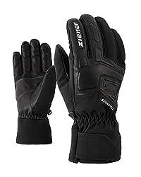 Ziener Erwachsene GLYXUS AS(R) Glove Alpine Ski-handschuhe/Wintersport | Wasserdicht, Atmungsaktiv, , schwarz (black), 9.5