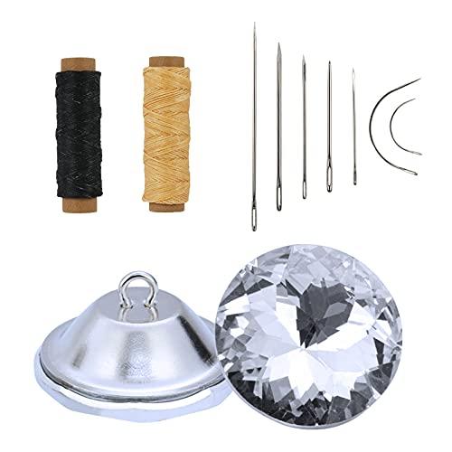 Botones de Tapicería Botones de imitación de diamantes 50pcs Botones de cristal plástico Para coser manualidades bricolaje decorar sofá cojín Cabecero sillas Sastres Mujeres Hilo artesanal