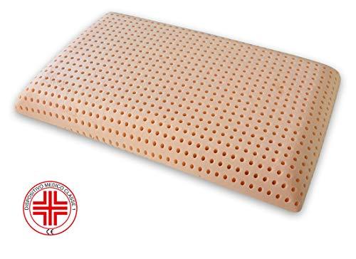 Marcapiuma - Almohada Viscoelástica Memory BIO Clean Lavable en Lavadora Extra Higiénica y Fresca - Almohada Bio con funda 100% Algodón - PRODUCTO SANITARIO - Ortopédica Antiácaros Fabricada en Italia
