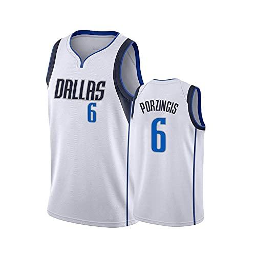 FNBA #6 Porzingis Mavericks Jersey para Hombre, Camisetas para fanáticos, Camiseta Conmemorativa, Chaleco Deportivo sin Mangas Transpirable, Camiseta de Baloncesto para fanáticos (S-2XL)