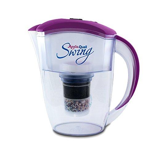 Wasserfilter AcalaQuell® Swing | Purple | Aktivkohle Wasserfilter | Höchste Filterleistung - mehrschichtig | BPA u. BPB frei | ReNaWa® - Technology | Kreiert köstliches, wohltuendes Wasser