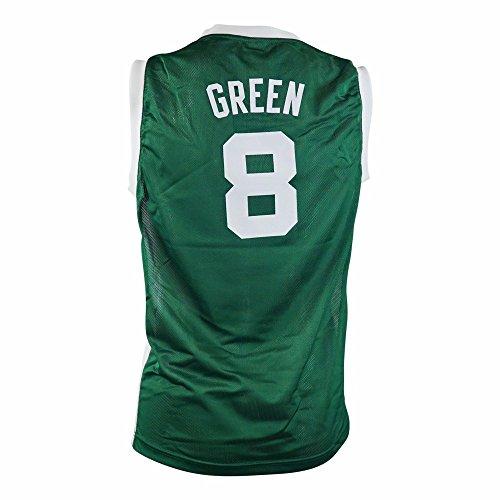 adidas Jeff Green Boston Celtics NBA Green Official Road Replica Basketball Jersey for Toddler (4T)