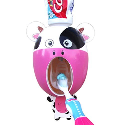 Fei Dispenser Automatico di dentifricio a Parete Pink 11x7x6cm
