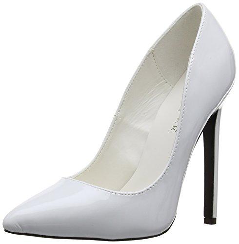 Pleaser EU-SEXY-20, Bomba Mujer, Blanco-Weiß (White Pat), 38 EU (Zapatos)