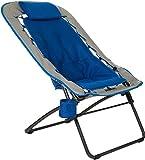 Zenithen Foldable Rectangular Air Mesh Outdoor Bungee Chair, Blue/Gray Pack of 1
