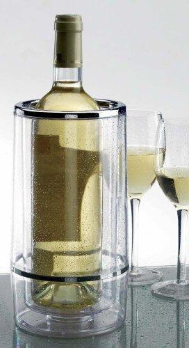 TheKitchenette 5045106 Weinkühler, doppelwandig, Kunststoff, transparent, 13 x 13 x 24 cm
