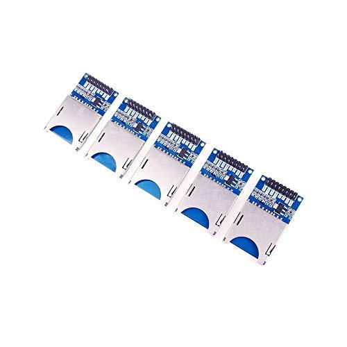 ANGEEK 5 Stück SD Karten Modul SD Card Reader Module (SPI) für Arduino und andere Microcontroller