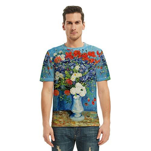COLOROPA Camisetas Manga Cortas Toda Impresión de Pintura al Óleo Hombre Graficas...
