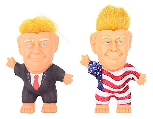Kingtoys Pack of 2 Collectible President Donald Trump Troll Doll Toy