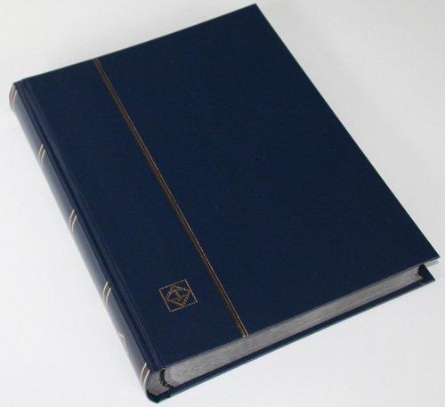Leuchtturm 64 Schwarze Seiten Einsteckbuch Briefmarkenalbum Einband dunkelblau
