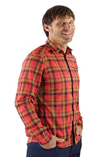 Club Ride Apparel Go Long - Camisa de manga larga de franela para hombre - rojo - Medium