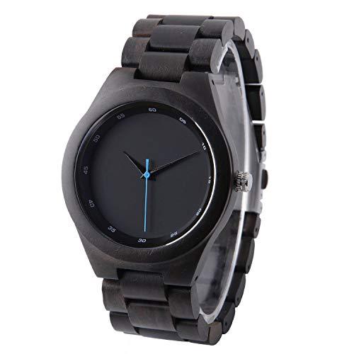 Gravur Ebenholz Uhr für Männer Benutzerdefinierte Holz Uhr Groomsmen Uhren Hochzeitsgeschenk