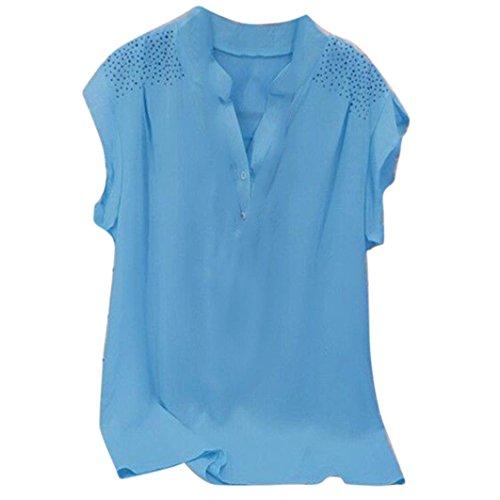 CUCUHAM Design Online Women Custom Army Made v Neck Tshirt Printing Maker Vintage Make a Band Personalised Customized Create Logo Crazy Cotton(Sky Blue, US:18/CN:4XL)