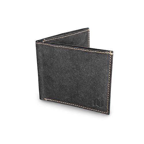 NEWBEK - Slim Wallet - Extrem dünne Geldbörse mit Münzfach, RFID-Schutz, aus reiß- & wasserfestem ökofreundlichem Material wie Leder: Crinkled-Papier. Veganer Geldbeutel. Damen & Herren Portemonnaie.