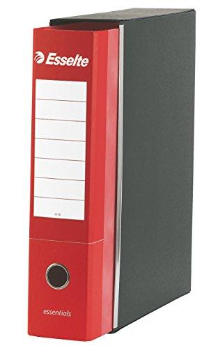 ESSELTE G75 ESSENTIALS Registratore - f.to protocollo dorso 8 cm - Rosso - Confezione da 6 Pezzi - 390775160
