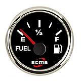 BBINGFANG-W Cruscotti Quadro Strumenti 2' Car Livello Carburante Meter Indicatore 0-190ohm con retroilluminazione 12V / 24V for i Motori, Navi, Auto modificate Auto