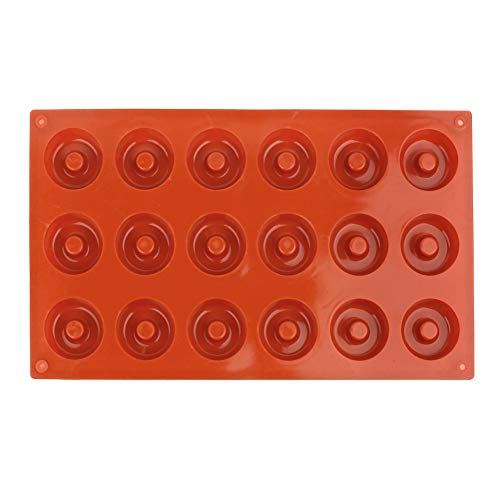 Duokon 18-cavity donut mal antistick donut bakvorm siliconen mallen voor chocolade handgemaakte zeep