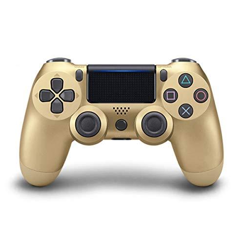 FLLKIHH Controller Wireless per telecomando PS4 per Playstation 4 con cavo di ricarica e Doppio Shock,Oro