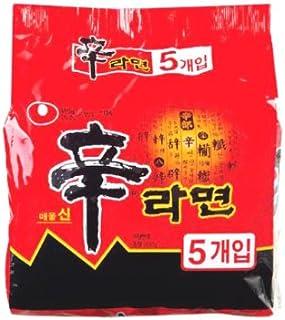 韓国 ラーメン 人気 NO.1! 【農心 辛ラーメン 120g マルチパック 5個入】★ 韓国食品 ★ 即席麺 韓国ラーメン 韓国食品