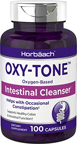 Colon Cleanse | 100 Capsules | Non-GMO & Gluten Free Oxy-Tone Colon Cleanser Pills | Helps with Constipation & Gut Health | by Horbaach