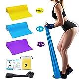 Set di elastici di carica, fitness, yoga, pilates, tonificazione, Sollevamento Pesi, Set di 3 con 3 livelli di difficolt diversi