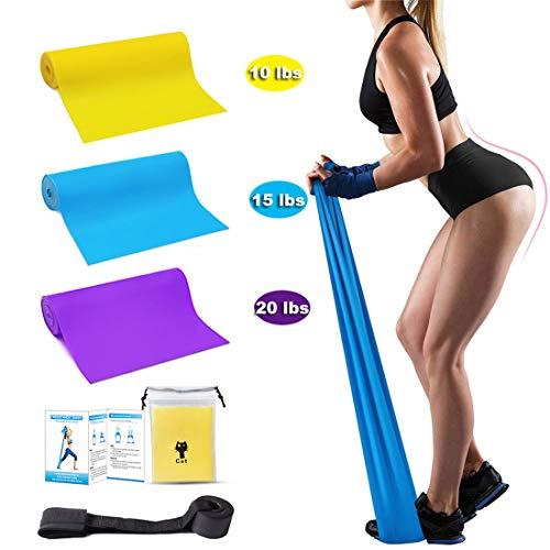 Fitness Sollevamento Pesi Pilates Yoga Set di Elastici di Carica Set di 3 con 3 Livelli di difficolt/à Diversi tonificazione