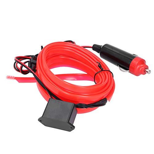 Auto LED-Streifen, Seilrohrstreifen, EL-Draht, Auto-Innenbeleuchtung, flexibel für Auto Auto(red)